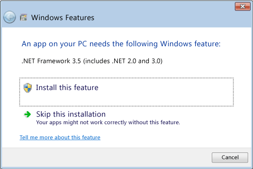 How to install dotnet 2. 0 or 3. 5 on windows 10 | developer onenote.